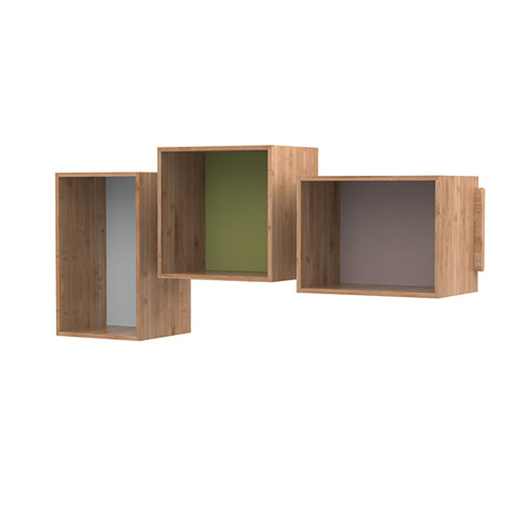 The SJ Bookcase Midi (set of 3), oak from We Do Wood