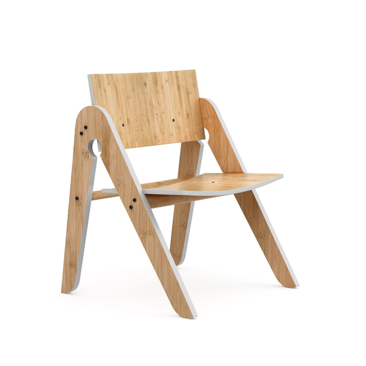 The Lilly's Chair, beech / bamboo / light grey by We Do Wood