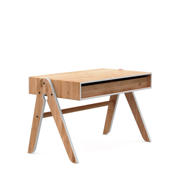 The Geo's Table, beech / bamboo / light grey by We Do Wood