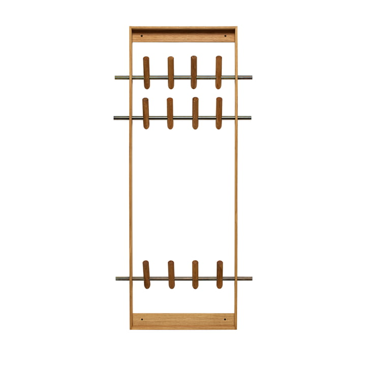 The Coat Frame, oak / brass from We Do Wood