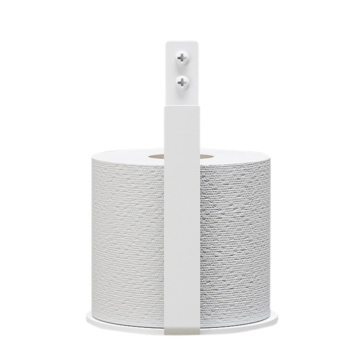 The toilet paper holder Extra from Nichba Design in white
