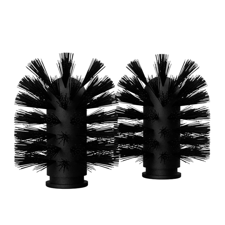 The replacement brush heads from Nichba Design in black