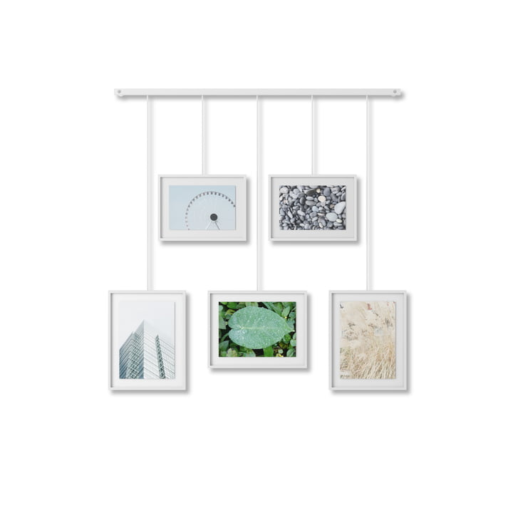 The Exhibit picture frame from Umbra in white