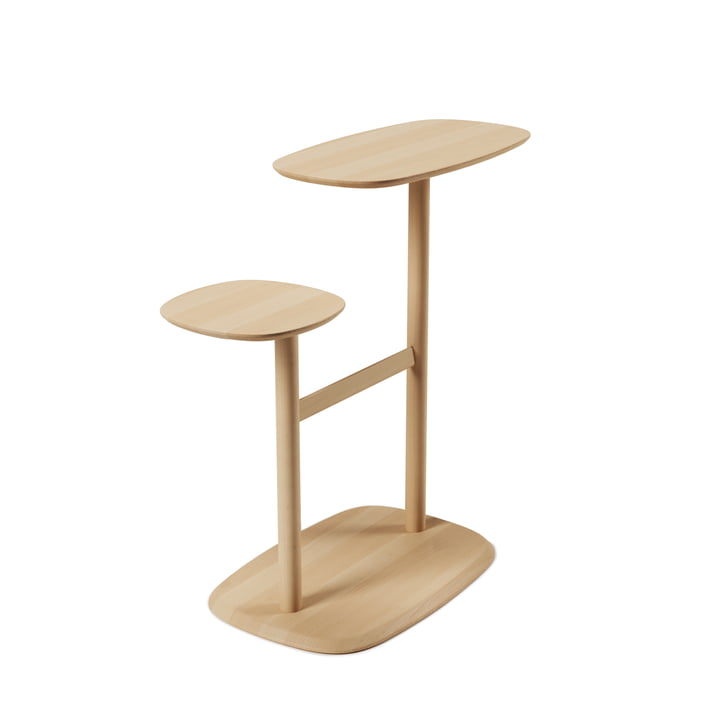 The Swivo side table from Umbra in natural beech
