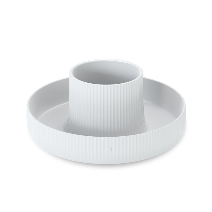 The Fountain flower pot from Umbra in white