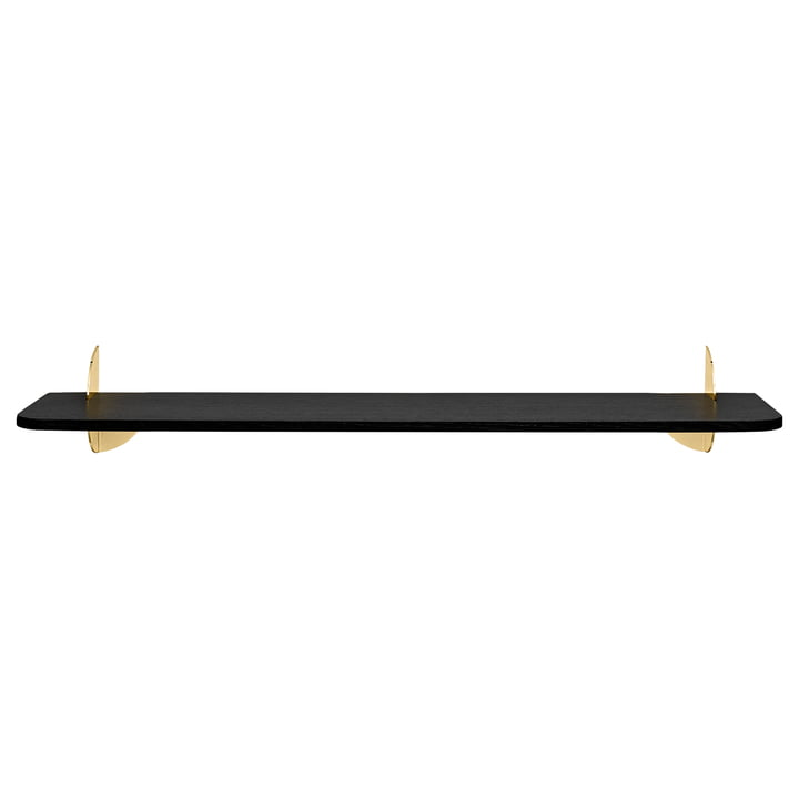 The Aedes wall shelf, Large, black / gold by AYTM