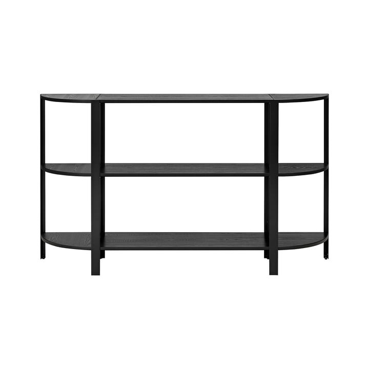 The OMNI shelving system, low single, black by AYTM