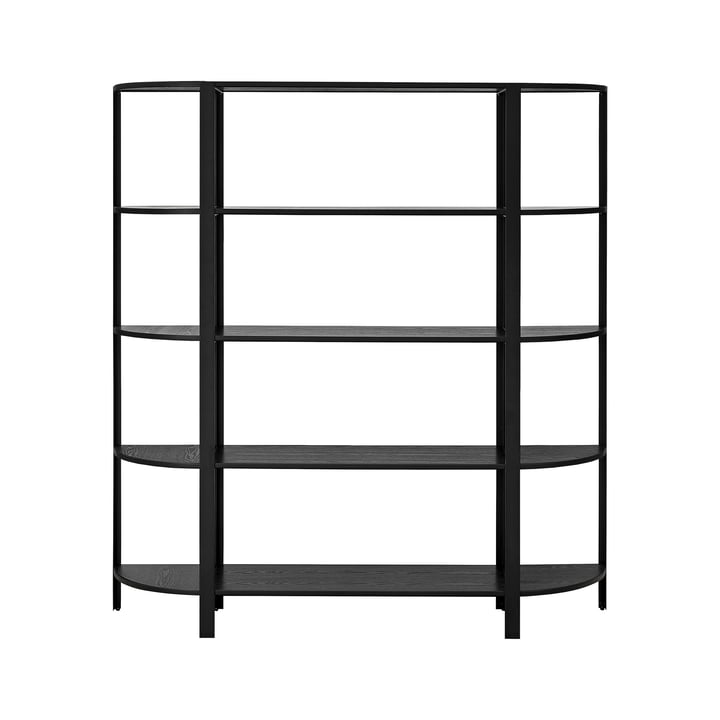 The OMNI shelving system, high single, black by AYTM