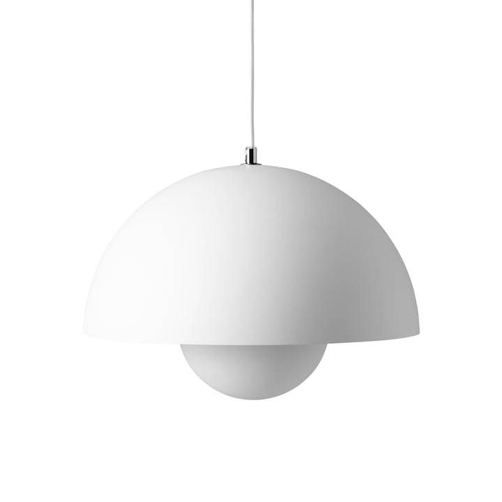 FlowerPot pendant lamp VP7 in matt white from & tradition
