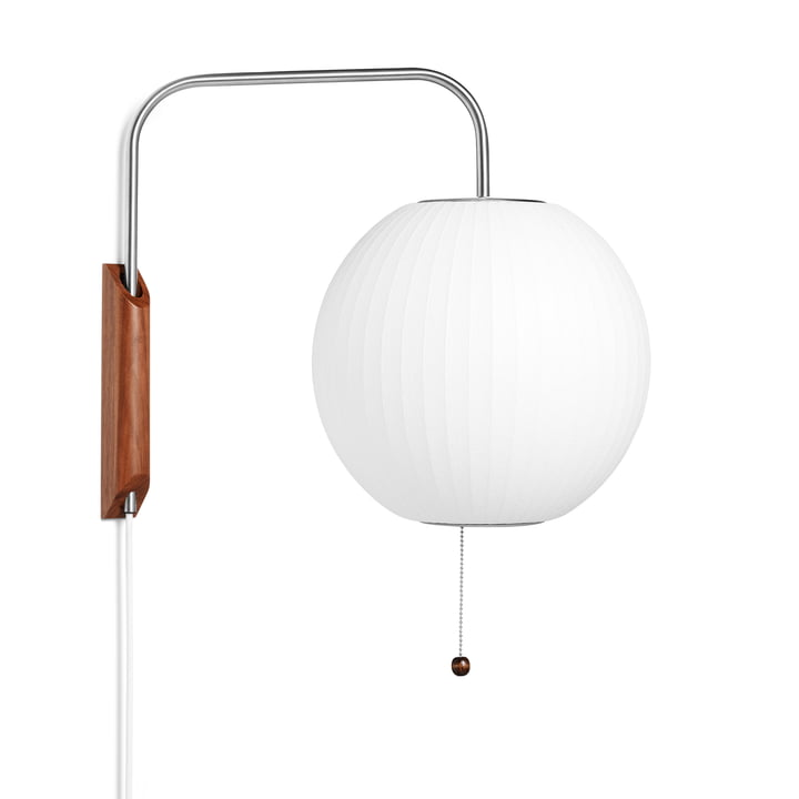 The wall Nelson Ball Wall lamp S, off white from Hay