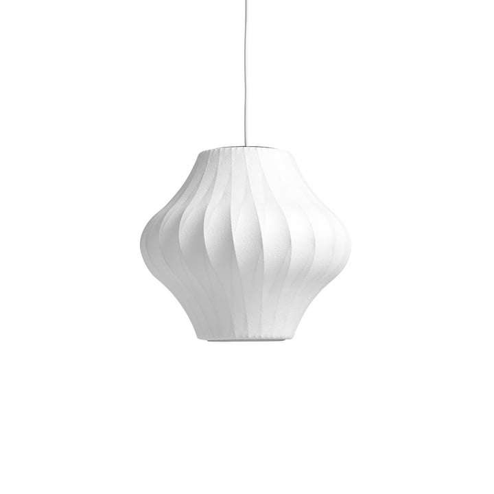The Nelson Pear Crisscross Bubble pendant luminaire S, off white from Hay