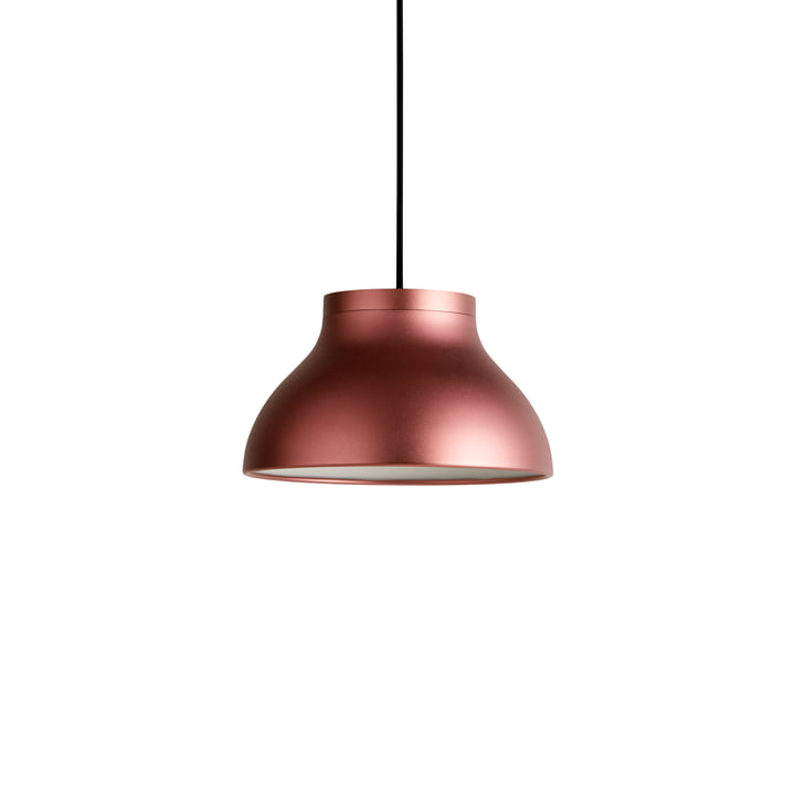 The PC pendant lamp S, blush red anodised by Hay