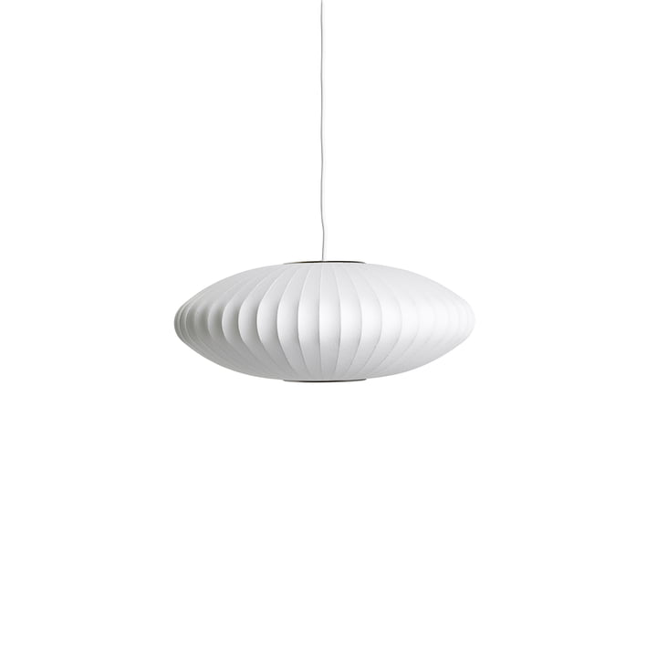 Nelson Saucer Bubble pendant lamp S, Ø 4 4. 5 x H 18 cm, off white by Hay