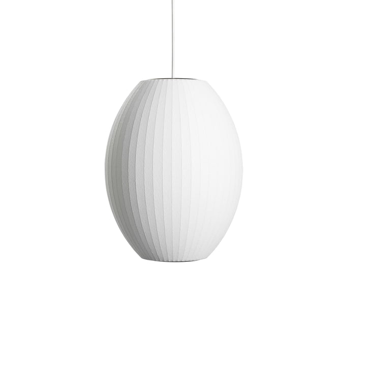 Nelson Cigar Bubble Pendant lamp S, Ø 3 5. 5 x H 44 cm in off white by Hay