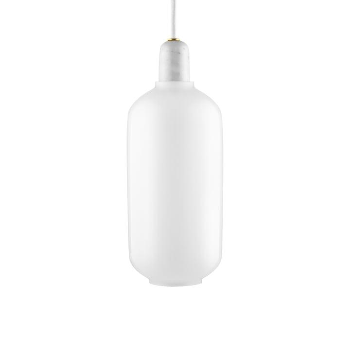 Amp pendant lamp large by Normann Copenhagen in white / white