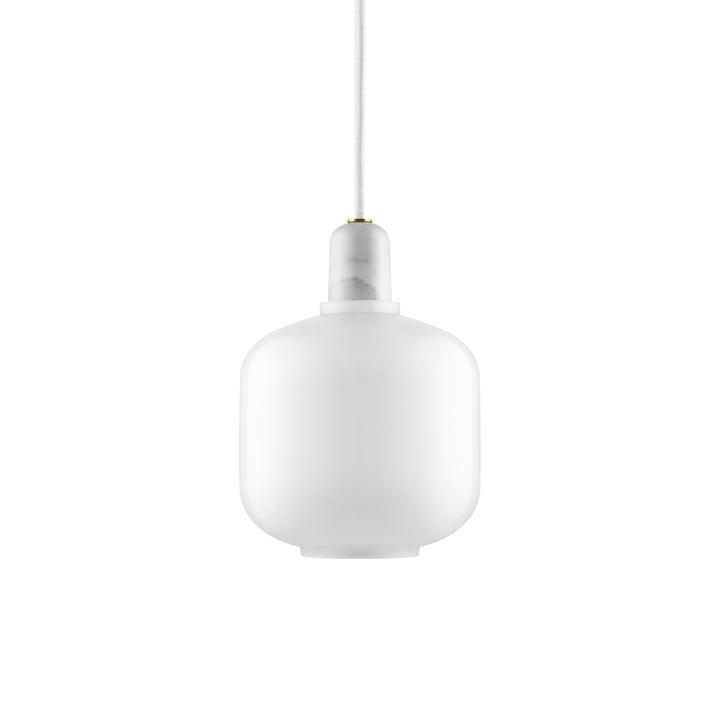 Amp pendant lamp small from Normann Copenhagen in white / white