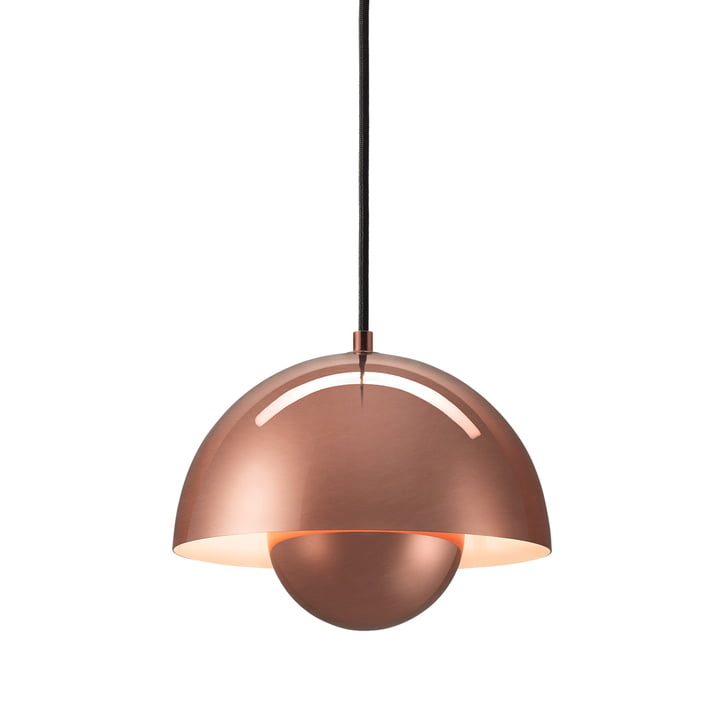 FlowerPot pendant lamp VP1 from & Tradition in copper