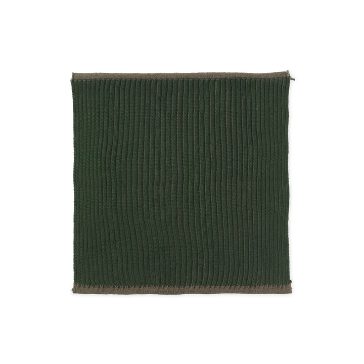 The Twofolg Organic Tea Towel by ferm Living in dark green