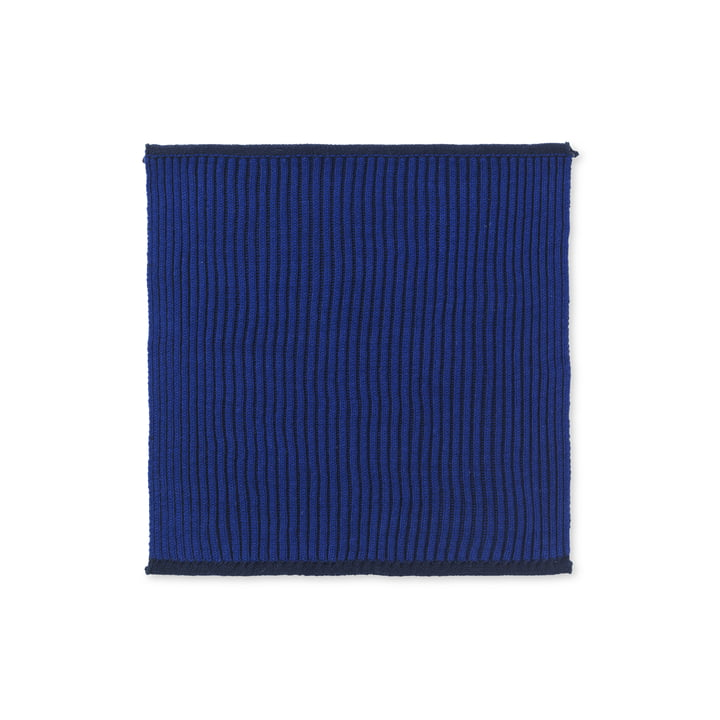 The Twofolg Organic Tea Towel by ferm Living in dark blue