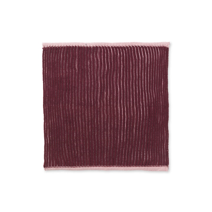 The Twofolg Organic tea towel from ferm Living in dusty rose