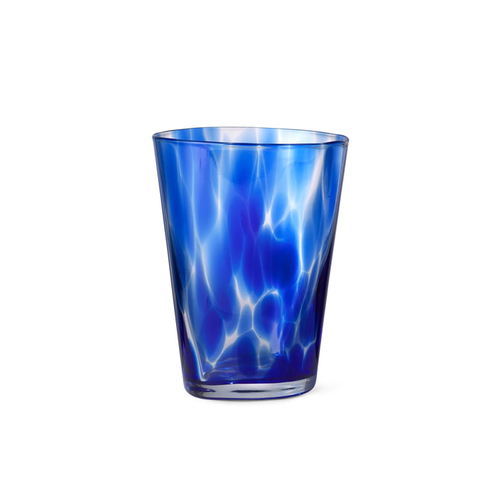 The Casca drinking glass from ferm Living in indigo