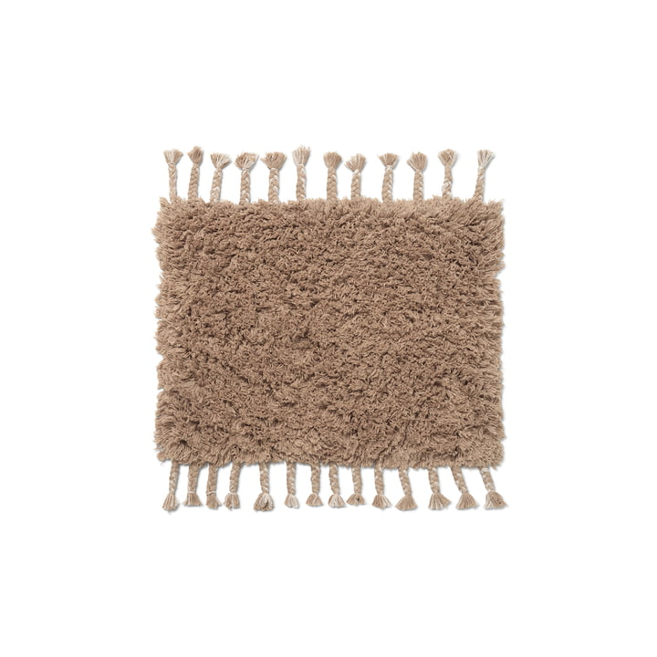 The Amass high pile doormat from ferm Living in white pepper