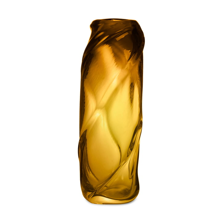 The Water Swirl vase from ferm Living in amber