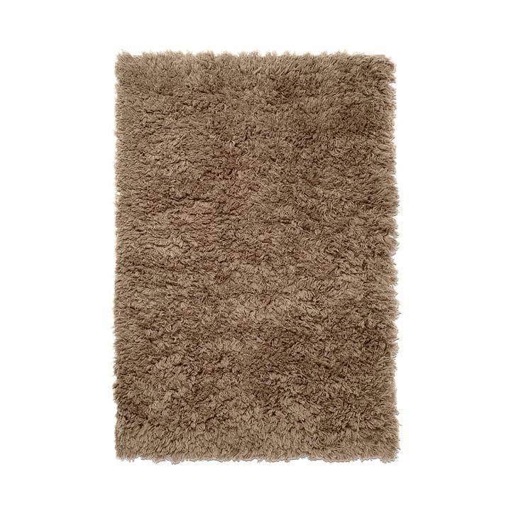 Meadow High pile carpet from ferm Living in dark beige