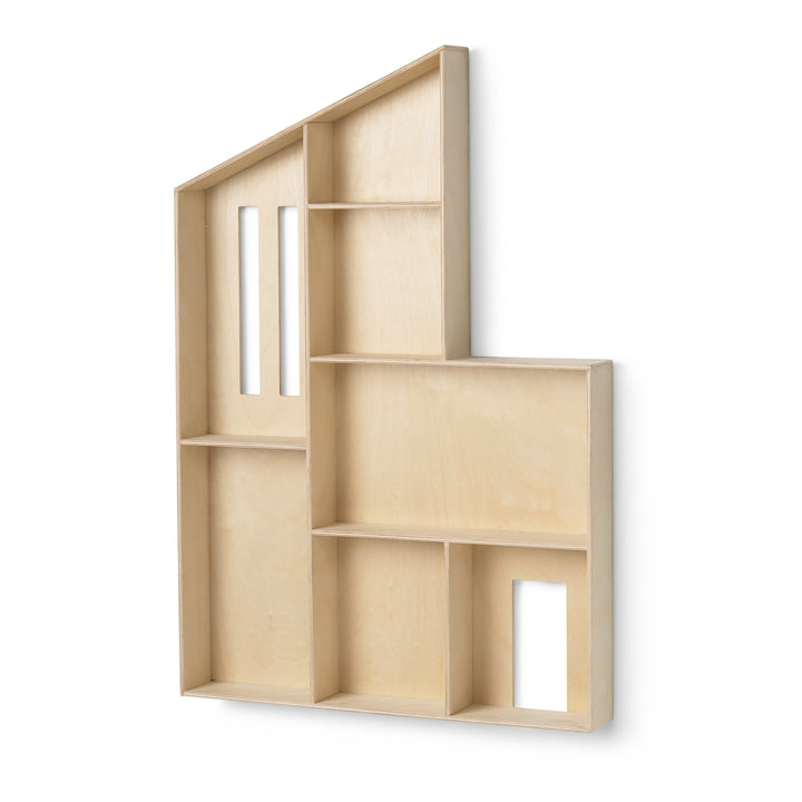 The Funkis miniature house shelf by ferm Living in nature