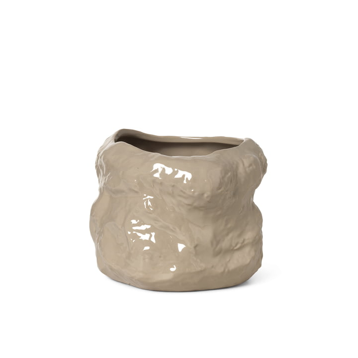 The small Tuck plant pot from ferm Living in cashmere