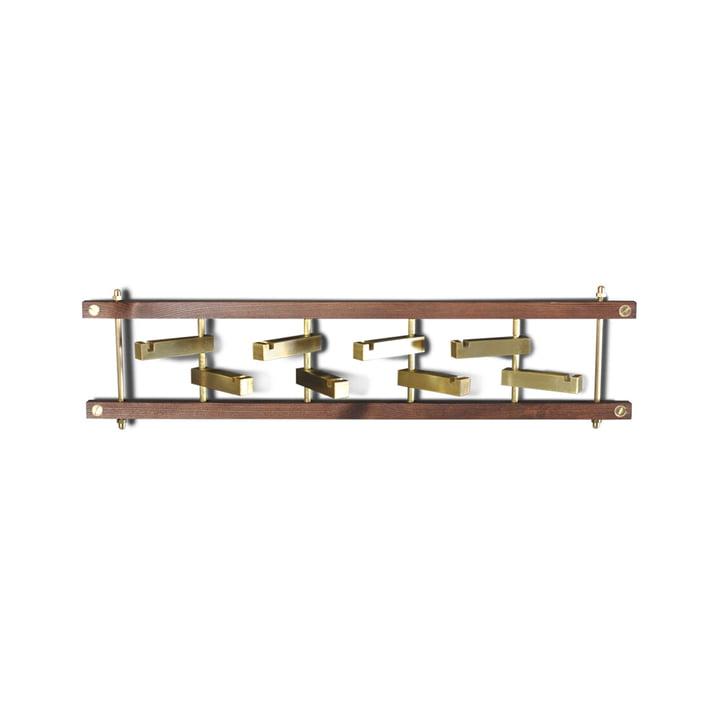 Brick Wall mounted wardrobe, walnut / brass from Ox Denmarq