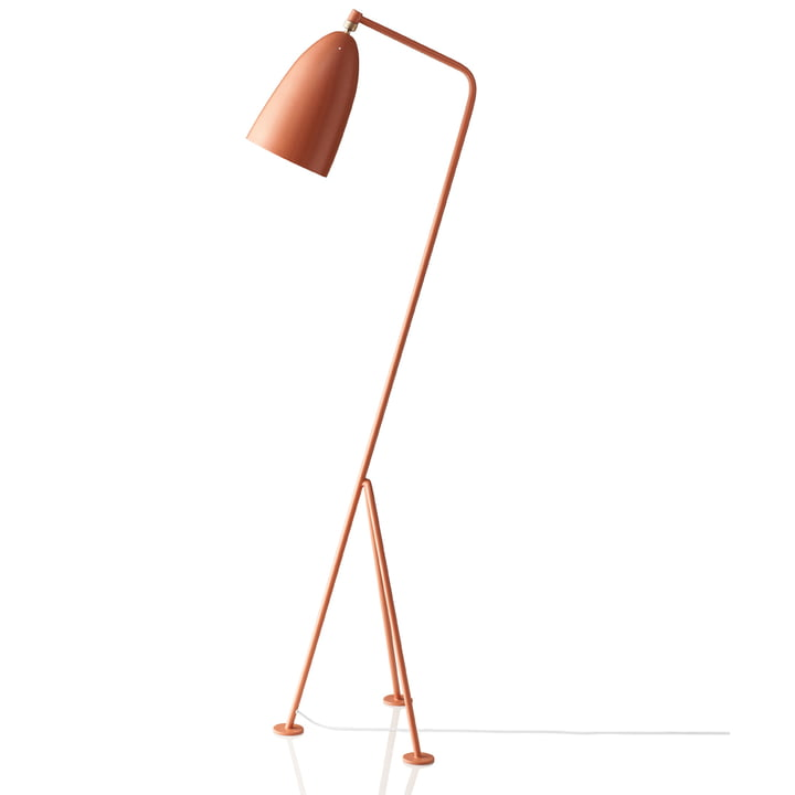 Gubi - Gräshoppa Floor Lamp GM1, red (vintage red)