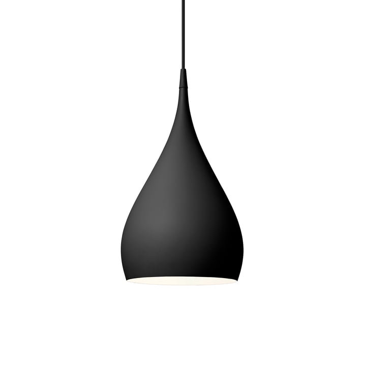 Spinning pendant lamp BH1 Ø 25 cm from & tradition in matt black