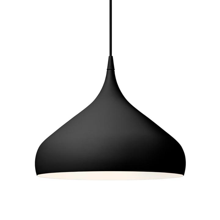 Spinning pendant lamp BH2 Ø 40 cm from & tradition in black matt
