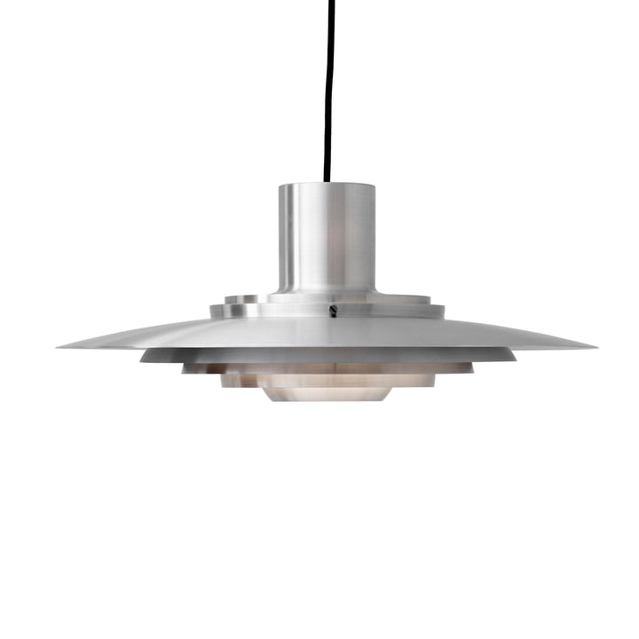 P376 Pendant lamp, KF1 / aluminium from & tradition The luminaire is made of brushed aluminium and therefore