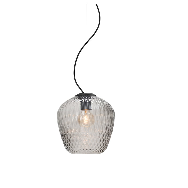 Blown SW3 pendant light from & Tradition in silver / cable black