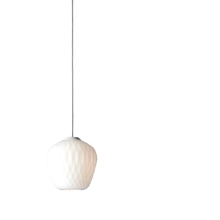 Blown SW4 pendant luminaire from & Tradition in opal / cable white