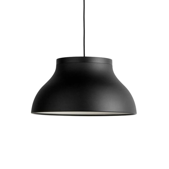 PC pendant lamp M, Ø 40 x H 20. 5 cm, soft black by Hay