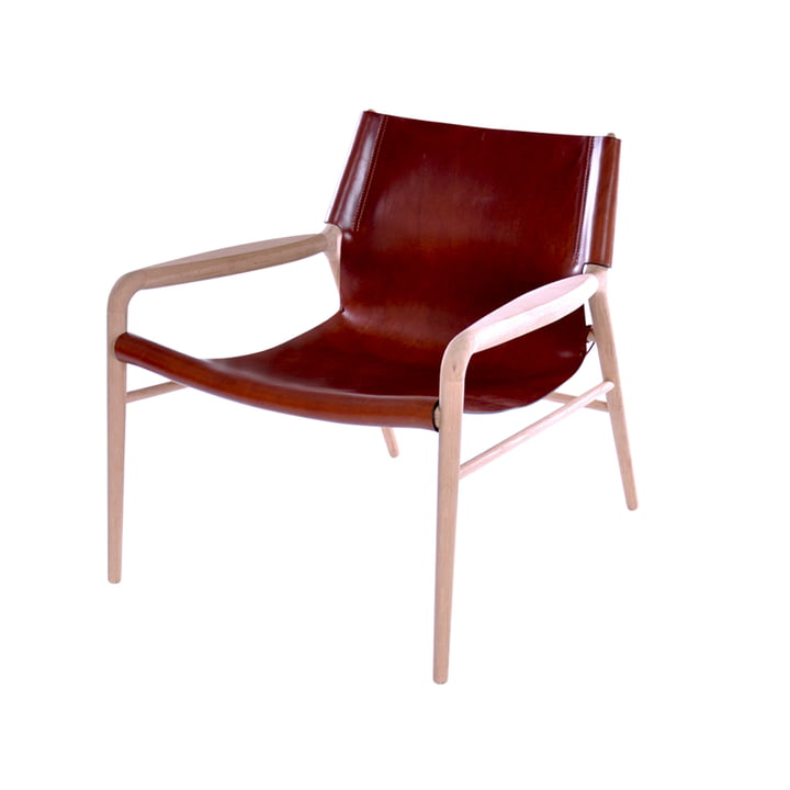 Rama Lounge Chair , soaped oak / leather cognac from Ox Denmarq