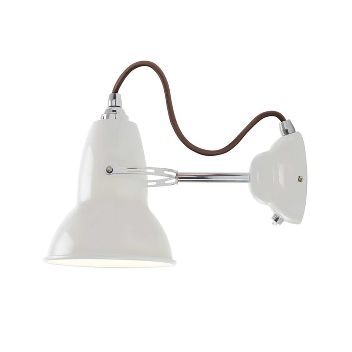 Original 1227 wall lamp, cable grey, Linen White by Anglepoise