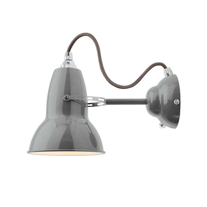 Original 1227 wall lamp, cable grey, Dove Grey by Anglepoise
