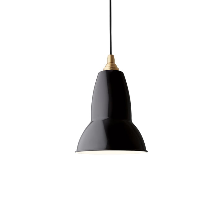 Original 1227 brass pendant lamp, Jet Black by Anglepoise