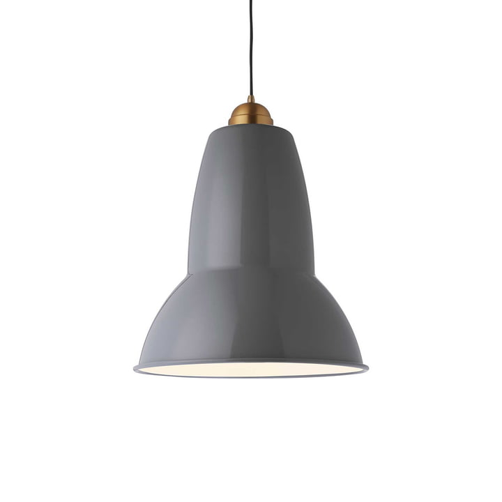 Original 1227 Maxi Brass Pendant Light from Anglepoise in Grey
