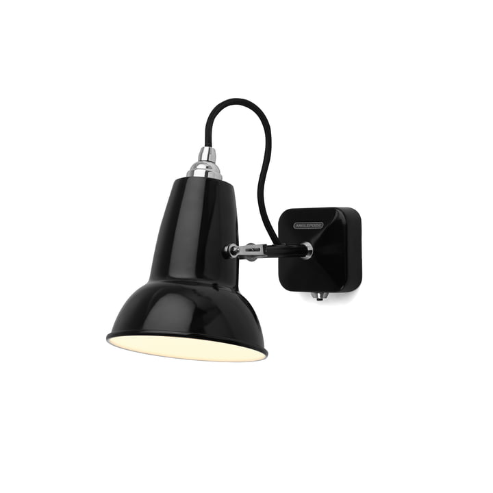 Original 1227 Mini wall lamp, cable black, Jet by Anglepoise