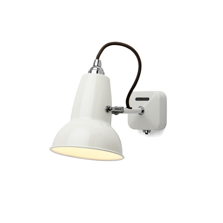 Original 1227 Mini wall lamp, cable black, Linen White by Anglepoise