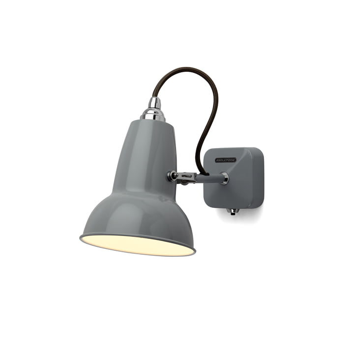 Original 1227 Mini wall lamp, cable black, Dove Grey by Anglepoise