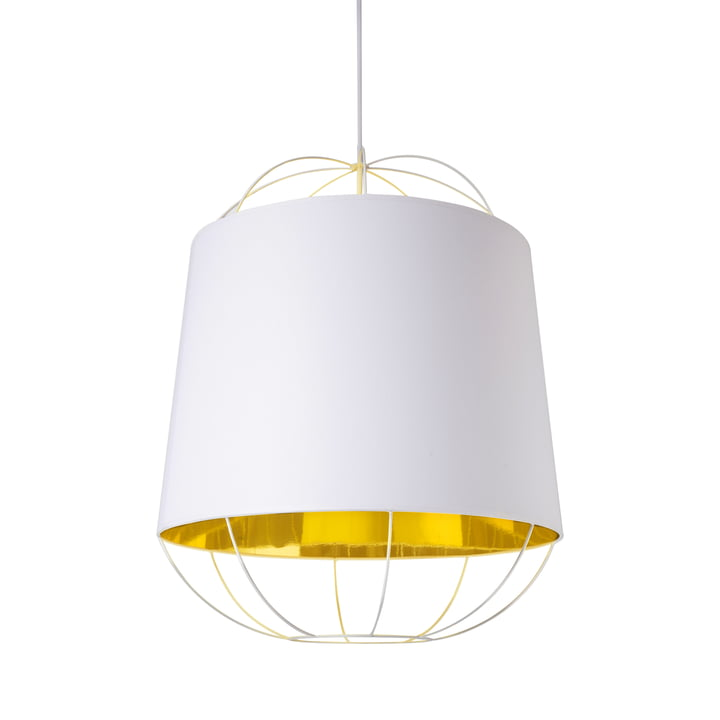 Lanterna pendant lamp, medium by Petite Friture in white / gold