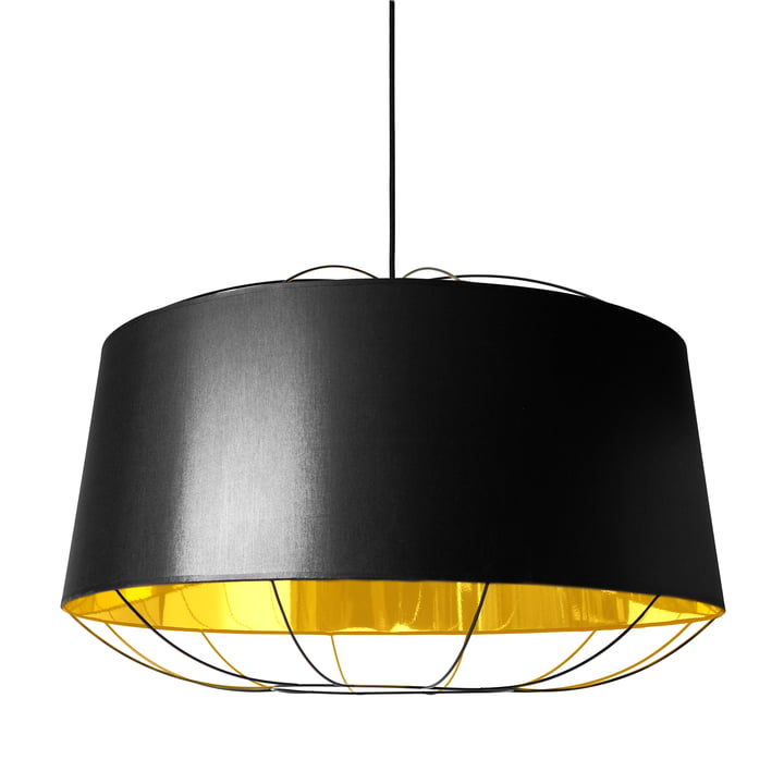 Lanterna pendant lamp, large by Petite Friture in black / gold