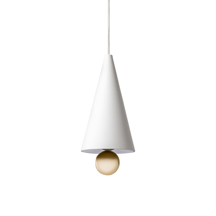 Cherry Pendant Lamp, small by Petite Friture in white / gold