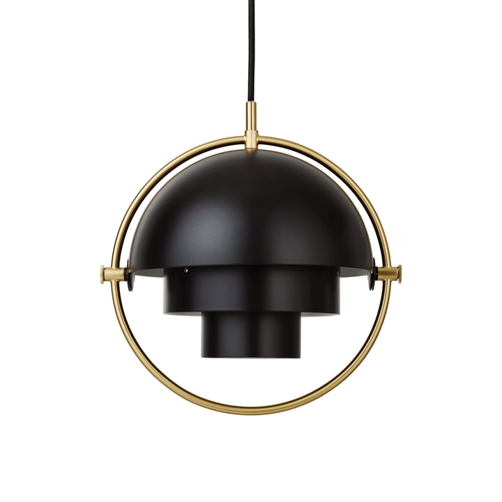Multi-Lite pendant luminaire S Ø 22,5 cm from Gubi in brass / black